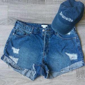 NWOT High Waist Button Fly Denim Shorts